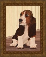 Little Puppy - Marquetry by amazoncanvas