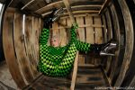 Green Black Spandex. FishEye. by AgnaDevi