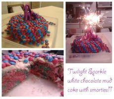 Twilight Sparkle birthday cake by sharvani