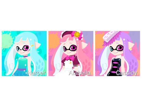 Inkling Adoption! Harper,Cassidy, and Arabella by Elite-Octoling
