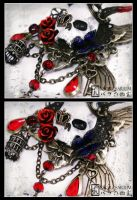 ''Unforgiven'' Brooch Detail by Necrosarium