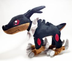 Digimon - Dobermon custom plush by Kitamon