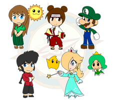 Assorted Chibis - The Year of... Rosalina? by Dragon-FangX