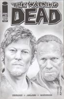 The Walking Dead Sketch Comic Cover (Daryl/Merle) by DenaeFrazierStudios