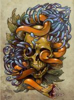 Skull and Snake by u7495