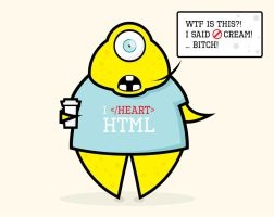 I Heart HTML-Monster by RandyRockstiff