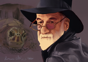 Sir Terry Pratchett by tramsmus