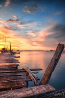 Sunrise of Dove Jetty, Penang by fighteden