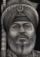 'SIKH WARRIOR' graphite drawing by Pen-Tacular-Artist