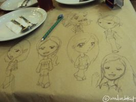 drawings on a placemat. by windarchitect
