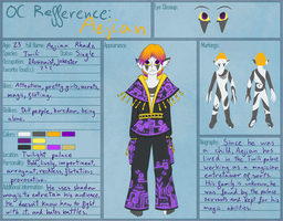 Aejian Reference Sheet by WildShadowWarrior