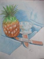 water, knife and pineapple by Zelkova-101