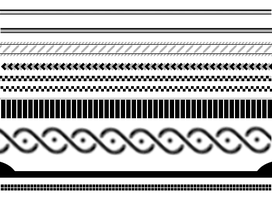 Semi-Basic Border Brushes by Animalluver1985