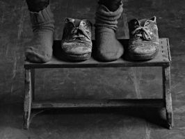 Without shoes, only socks by Lucsija