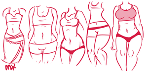 Sketch Dump - Body Types by MyaMisguided