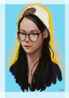 Hara Goo Imaginative portrait by nahnahnivek