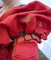 Red Italian Renaissance Gown by BaronessaGinevra
