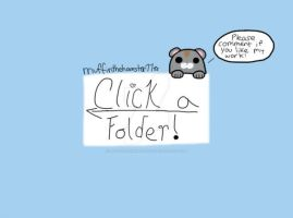 Click a folder (gallery decoration!) by muffinthehamster11