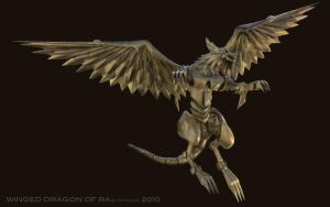 Winged Dragon of Ra II by pytoche