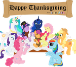 Happy Thanksgiving from BronyState by KimikoNyanChan