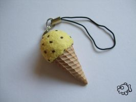 Big Ice Cream Charm 1 - Banana by FunkadelicPsychoFish