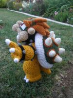 Crocheted Bowser 3 by aphid777