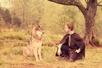 The Wolf And The Boy by Wincey