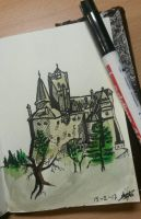 Castle Sketch by Cheapknight