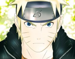 Naruto-colored lineart by Ssabinka