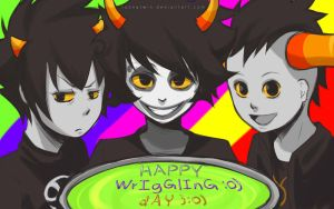 HAPPY WRIGGLING DAY by loonytwin