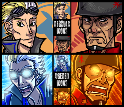 TF2 Avatars by lunajile