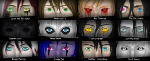 Creepypasta Eyes V.2 by IvyDarkRose