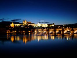 Prague - Castle at Night by LeighWhittaker