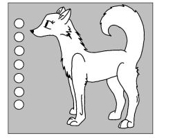 Wolf Lineart: Long Tail by oOquaaktacularOo