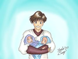 K4: Atton With Infants by MaskedSugarGirl