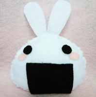 Onigiri Bunny Plushie by michellescribbles