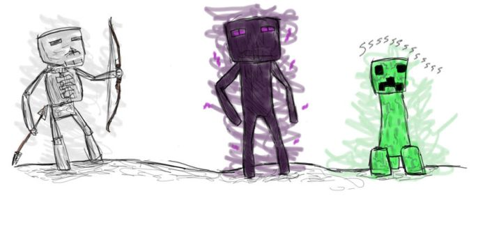 MC MOBS 1 by Thecelticfish