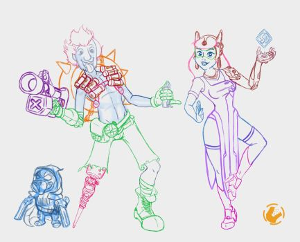 OverWatch Doo Crossover WIP by killedbycreatures