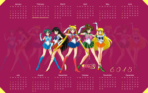 Yearly Calendar Wallpaper 2015 - Sailor Moon by edinaholmes