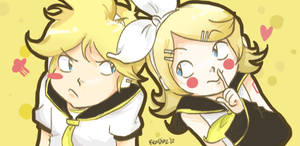 VOCALOID::Kagamines by vanipy05