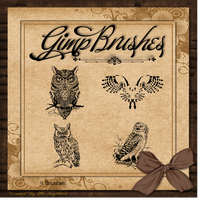 GIMP Brushes | Owl Brushes by TheAngeldove