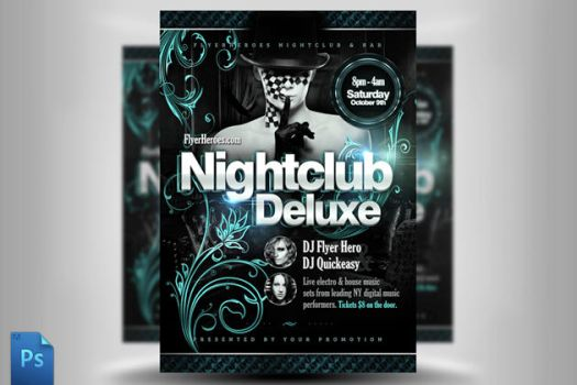 Nightclub Deluxe Flyer Template by quickandeasy1
