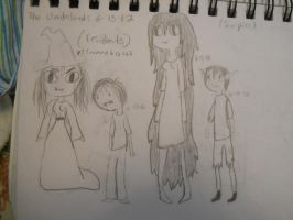 Residents of the Underlands-First Sketches by fionnaxfinn17