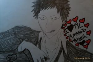 KHR I love Tyl yamamoto takeshi by Bluedragoncartoon