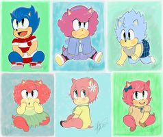 Sonic and Amys children by Jalapagos