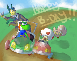 Happy B-Lated Birthday Quai and Yoshi by MasaBear
