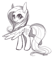 Flutterbutt sketch by Rain-Ame
