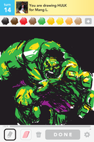 Drawsomething_Hulk by zzyzzyy