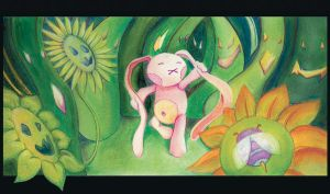 The long night of the pink rabbit (woods) by OminoFocaccina