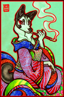 Oiran by CanisAlbus